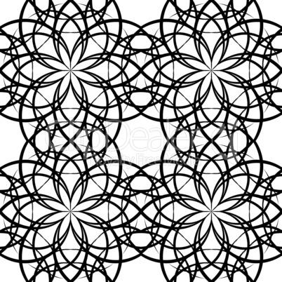 Illustration sieamles tile ornate pattern