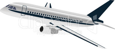 Realisic illustration airplane