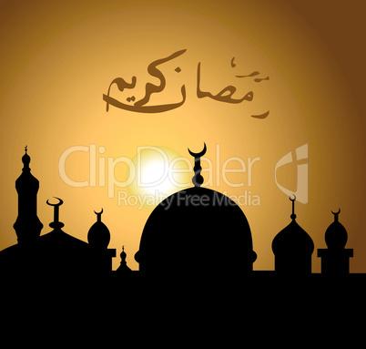Greeting card for holy month of Ramadan Kareem