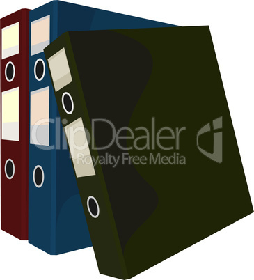 Realistic illustration of close folders