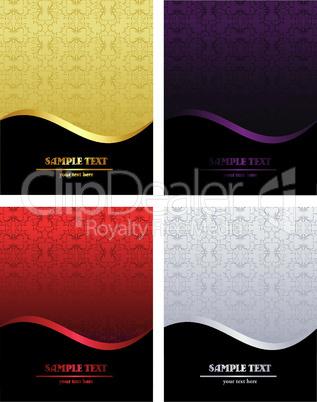 Set of luxury backgrounds