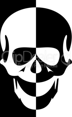 Illustration blak and white skull