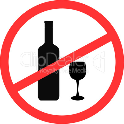 Sign stop alcohol