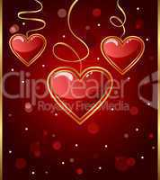 card with heart for Valentine's day