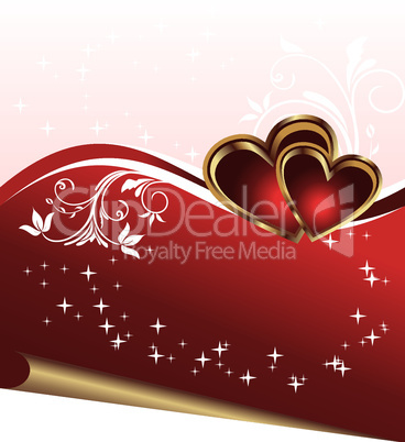 romantic elegance background with heart