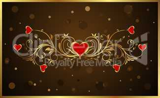 floral background for Valentine's day