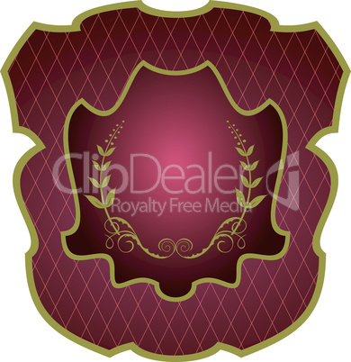 Illustration luxurious silver-framed labels - vector