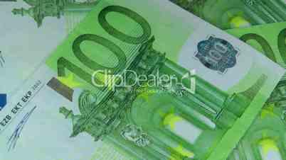 100 Euro Geldscheine - 100 Euro Banknote Turntable