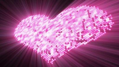 love shape shine pink heart with luma matte