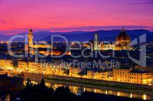 Florenz Abend - Florence evening 01