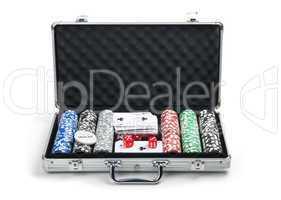 Poker set in case