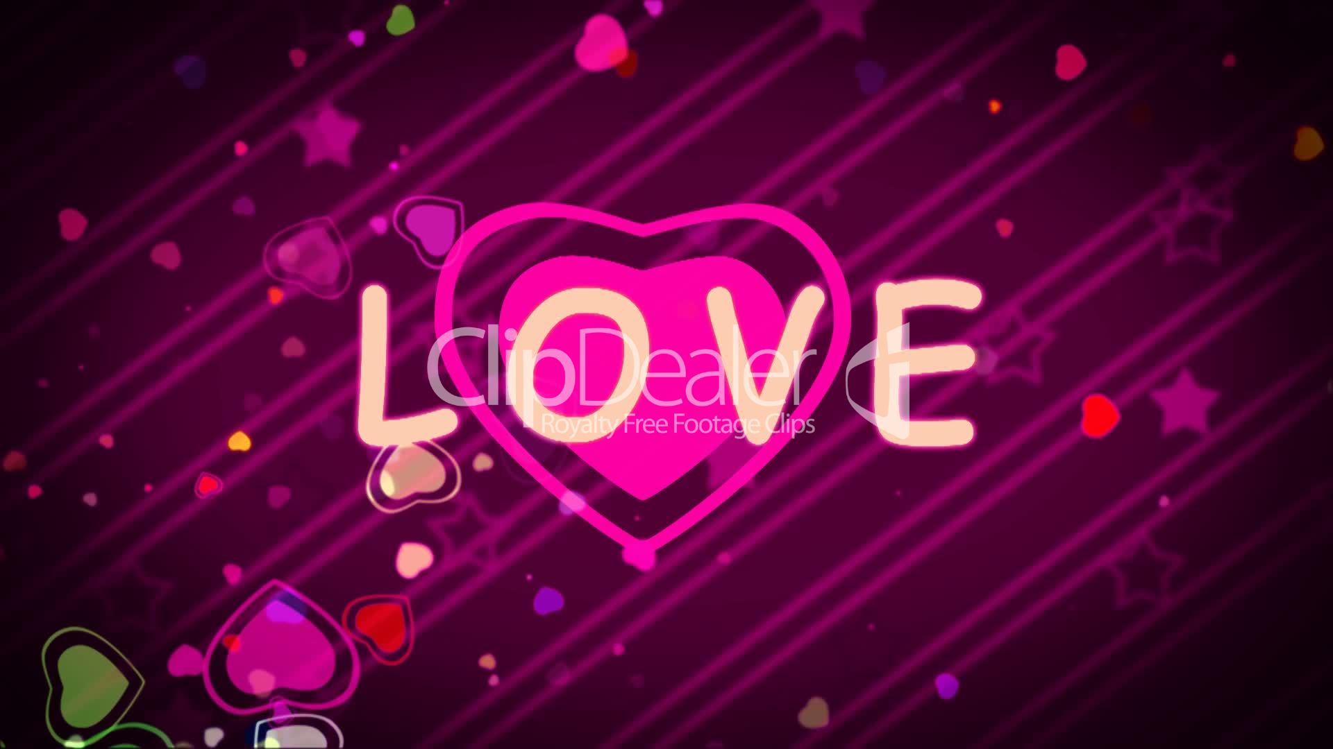 """""""I love you"""" over Purple Background: Royalty-free video"""