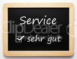 Service sehr gut
