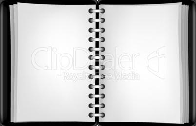 black notepad