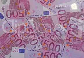 Fünfhundert Euro Geldscheine