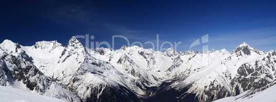 Mountain panorama. Caucasus