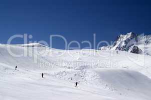 Snowboard park. Caucasus.