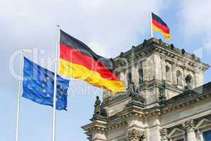 Bundestag / Reichstag in Berlin - Detailansicht