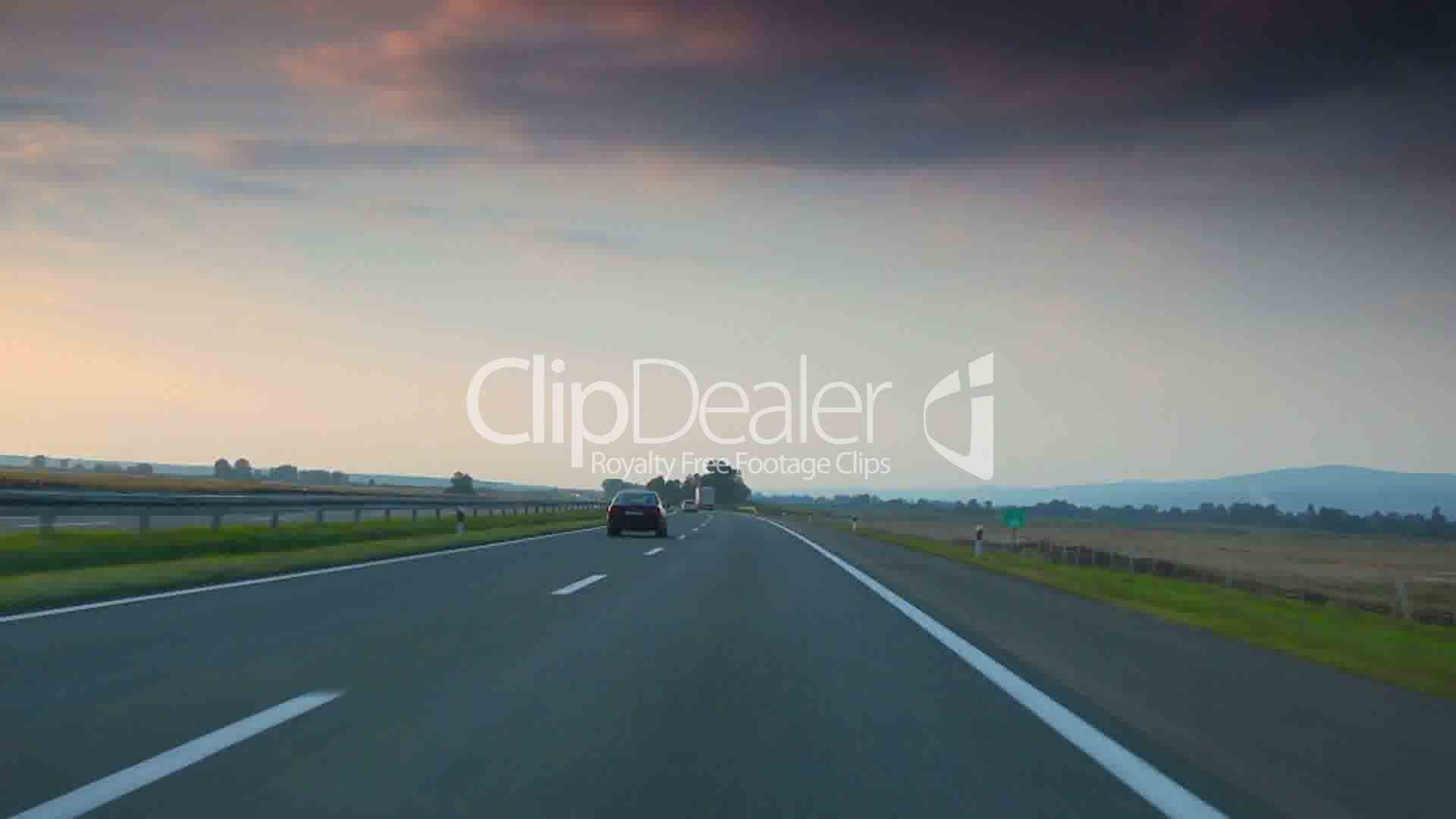 Car driving on highway: Royalty-free video and stock footage