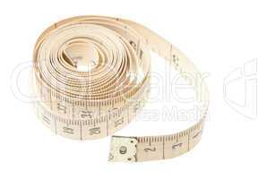 Light measuring tape isolated