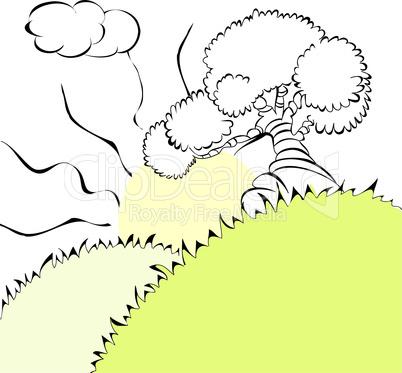 Illustration with tree