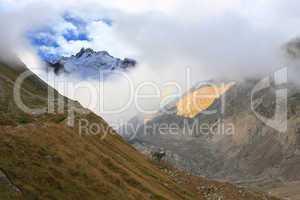 High-mountainous valley