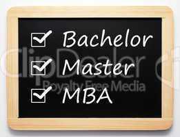 Bachelor / Master / MBA - Career Concept