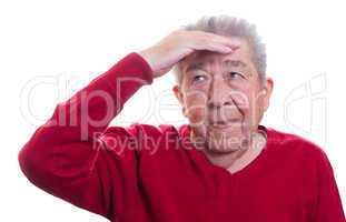 Skeptischer Senior