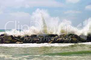 Pisa Strand Wellenbrecher - Pisa beach breakwater 01