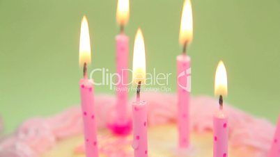 Blowing out Candles Close Up