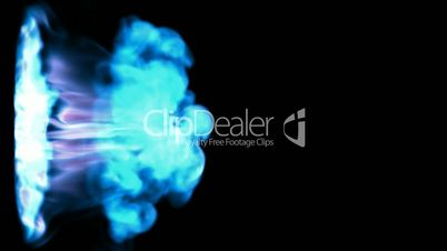 Abstract blue smoke or gas stream, slow motion