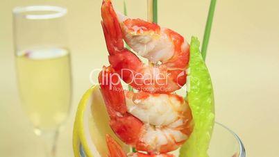 Cocktail Sauce on Shrimps