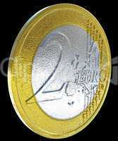 2 Euro: European currency coin