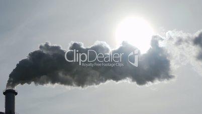 Chimney Steam that hides Sun