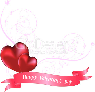 Ornamental heart background