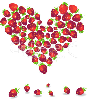 Valentines Day background with strawberry
