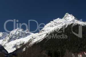 Caucasus Mountains. Village Dombay