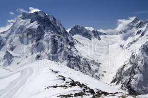 Caucasus Mountains. Mount Dombay-Ulgen.