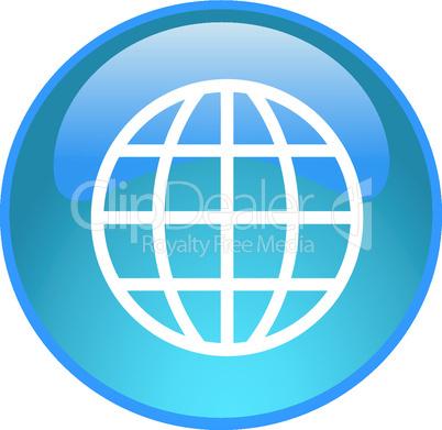 Button mit Globus