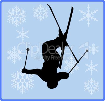 Freestyle Skifahrer