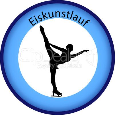 Eiskunstlauf Button