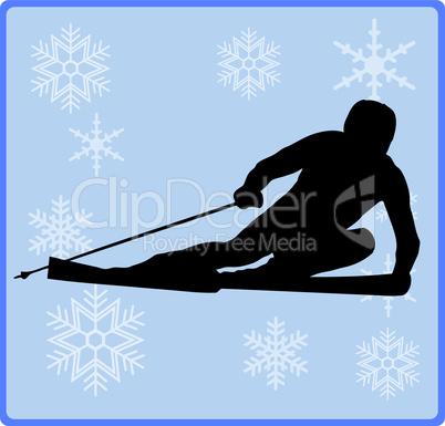 wintersport alpinskifahrer