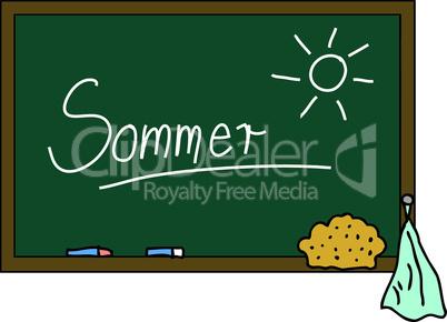 Schultafel Sommer