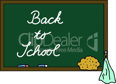 Schultafel Back to School