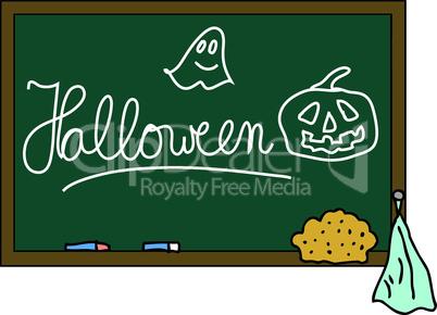 Schultafel Halloween