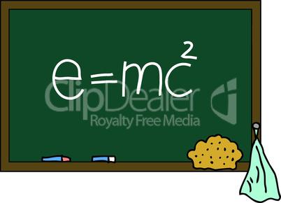 Schultafel e=mc²