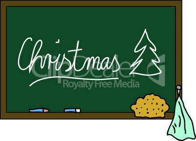 Schultafel Christmas
