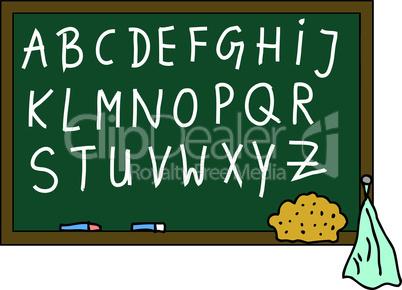 Schultafel Alphabet