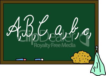 Schultafel ABC