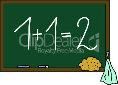 Schultafel 1+1=2